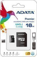 A-DATA 16Gb Class10 UHS-I microSD kártya + SD adapter