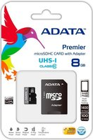 A-DATA 8GB Class10 UHS- I MicroSD + adapter