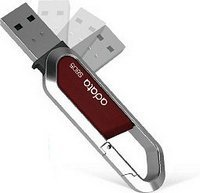 A-DATA S805 Carabiner Keychain 32GB piros pendrive / USB flash drive