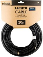 4World 20m HDMI - HDMI 19/19pin M-M v1.4 kábel, fekete