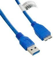 4WORLD 1m USB 3.0 Micro USB 3.0 kék kábel