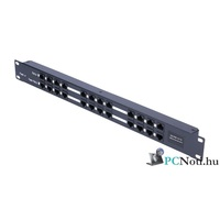 "12 Port Passive PoE Injector 12V~48V DC, 650mA Max, 10/100Mbps, 19"" Rack Panel"