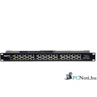 "12 Port Passive PoE Injector 12V~48V DC, 650mA Max, Gigabit Ethernet, 19"" Rack Panel"